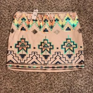 Express sequined mini skirt. Size M